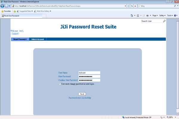 Help Desk Password Reset