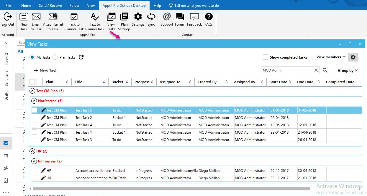 Apps4o Planner Outlook Desktop Add In V1200 Release