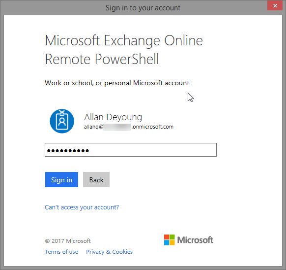 Exchange online Powershell module With Multi Factor