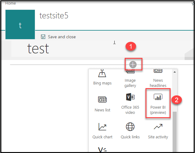 Power BI Web part (preview) for SharePoint
