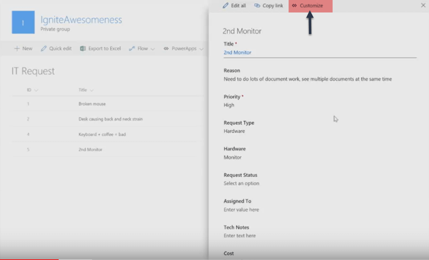 SharePoint Online Custom Forms using PowerApps[InfoPath Alternative]