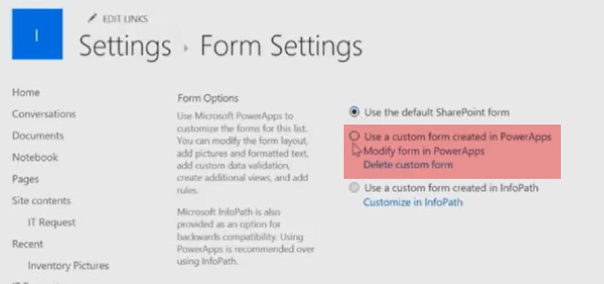 SharePoint Online Custom Forms using PowerApps[InfoPath Alternative]