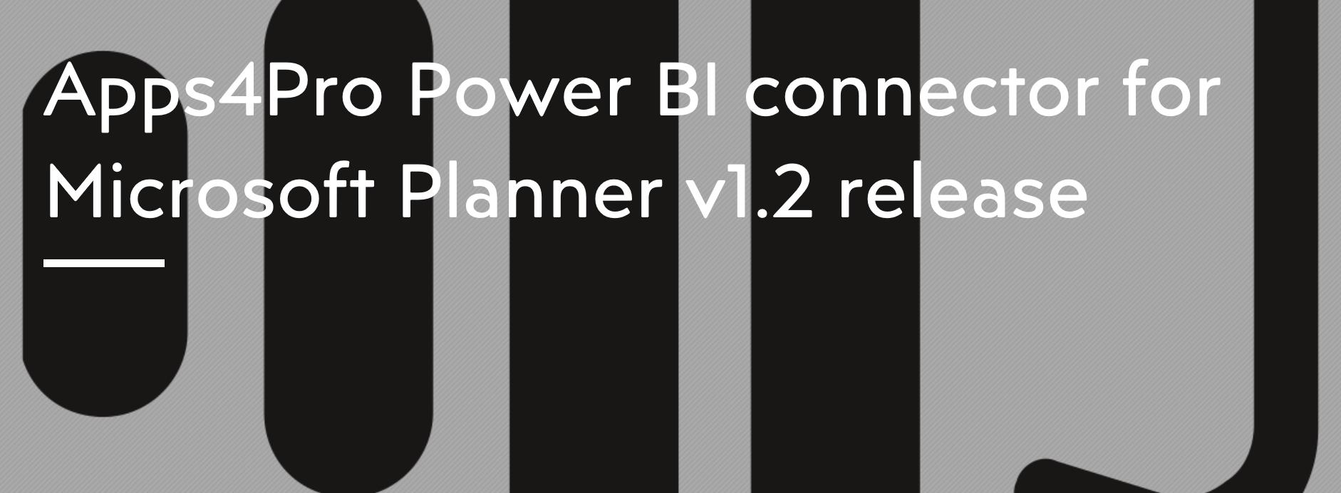 Power BI connector for Microsoft Planner