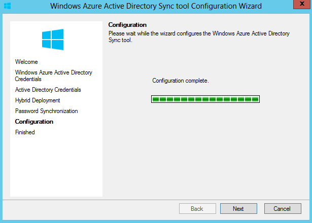 Active Directory Azure Sync Configuration