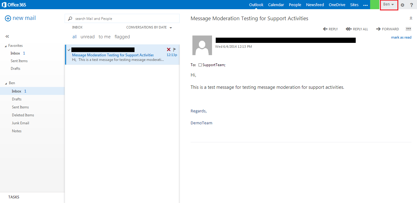 Office365 email approval