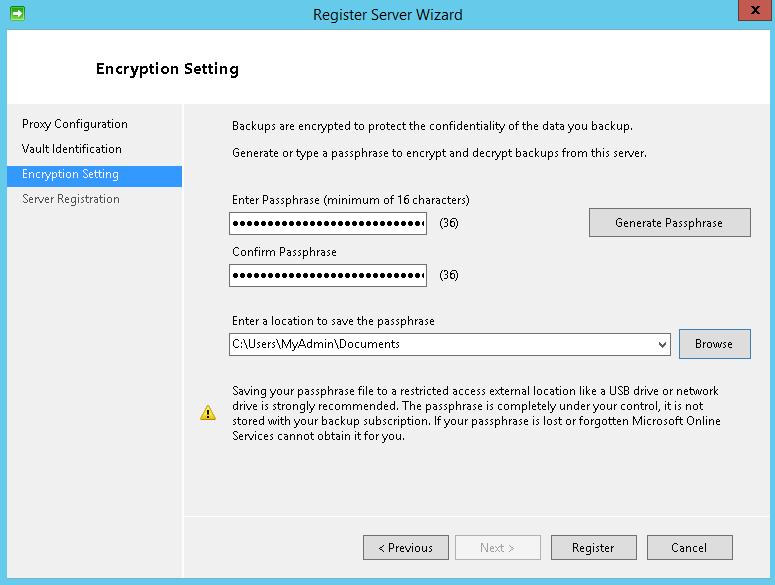 Storage Backup and Recovery - Windows Azure Backup Vault