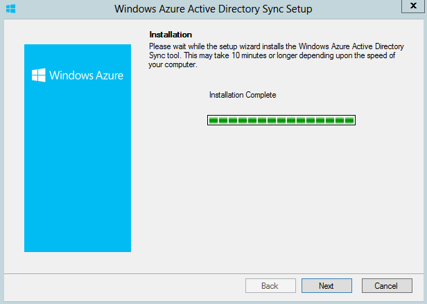 Wxindoes Azure Active Directory Sync Services